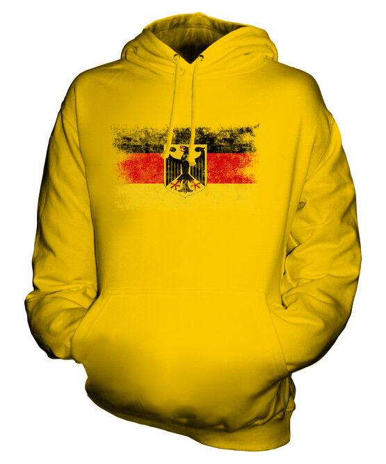 GERMANY STATE DISTRESSED FLAG UNISEX HOODIE DEUTSCHLAND FOOTBALL GERMAN