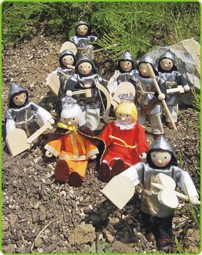 10 pièces à cintrer poupées chevaliers roi /& reine 30-85