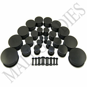 V093-Black-Acrylic-Single-Flare-Ear-Plugs-Earlets-10G-to-1-1-4-034-2-5mm-to-32mm