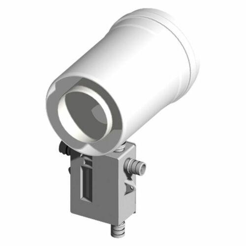 senkrecht u.waagrecht mit Siphon-DN 80//1 Kunststoff-Abgassystem Kondensatablauf