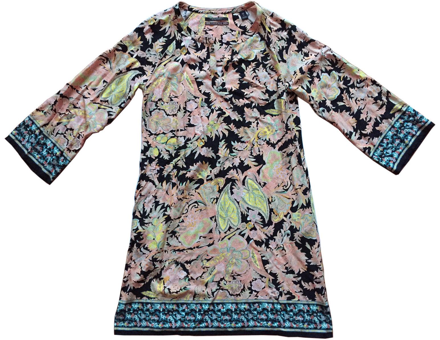 SCOTCH & SODA Bell-Sleeved Paisley Tunic Dress 100% Viscose  Stardust Motel  Sz1
