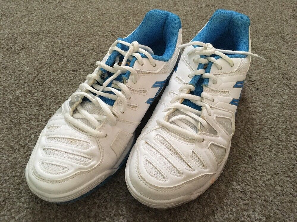 Womens Asics & Gel Game E556Y Aqua & Asics White Shoes, Size 7 c7dd52