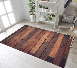 Rustic Retro Old Wooden Floor Themed Area Rugs Bedroom Living Room Floor Mat Rug Ebay
