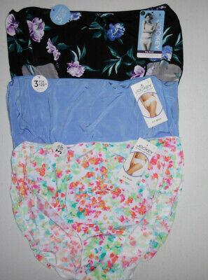 3 Jockey Logo Hip Brief Panty Set 1372 No Line Tactel Yellow Blue Floral 8 XL