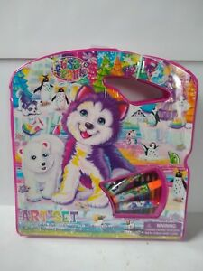 Lisa-Frank-Art-Kit-in-Case-NEW-LARGE-Paint-Sketch-Color-Draw