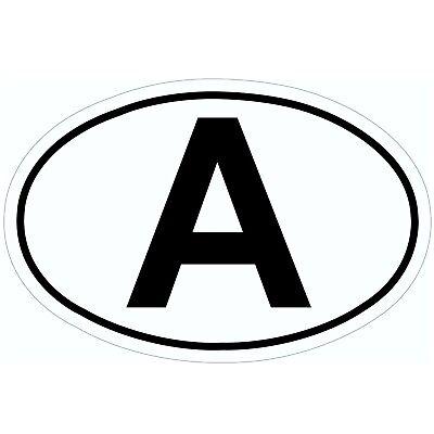 Zehn 10 Stück Austria A-Schild Kennzeichen A Schild Aufkleber HR Art. 380337