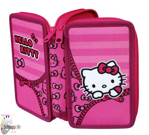 Hello Kitty 2-stöckige Federtasche// Federmappe// Schüleretui// gefüllt 29 tlg.