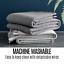 thumbnail 11 - Trafalgar 100% Australian Wool Blanket Single/Double Warm Soft Breathable Grey