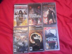 Lot de 6 Jeux pour console PSP