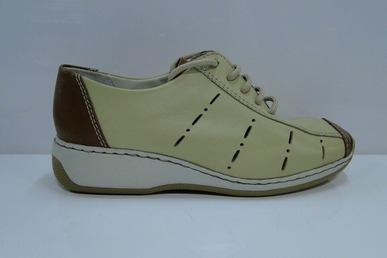 ITALIAN MADE  PIU DI SERVAS 'Dgold' Ladies Sand Leather Walking shoes UK Size 4