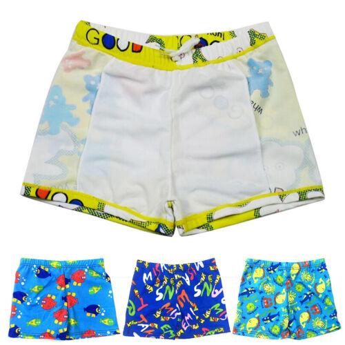 Baby Boys Swimming Trunks Cartoon Polyester Bathing Suit Children Swimwear GNCA