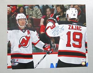 online store 5420a 3bf91 Details about Y15372 Travis Zajac Signed 16x20 Hockey Photo AUTO PSA/DNA  COA New Jersey Devils