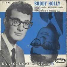 """BUDDY HOLLY Everyday + 3 French EP 45 7"""" CORAL 18107 VERY RARE"""