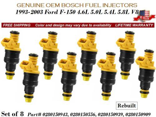 8 Fuel Injectors OEM Bosch for 1993-2003 Ford F-150 4.6L 5.0L 5.4L 5.8L V8