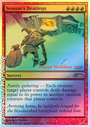 Season's Beatings Foil NM Happy Holiday Promos engl. Magic Gathering
