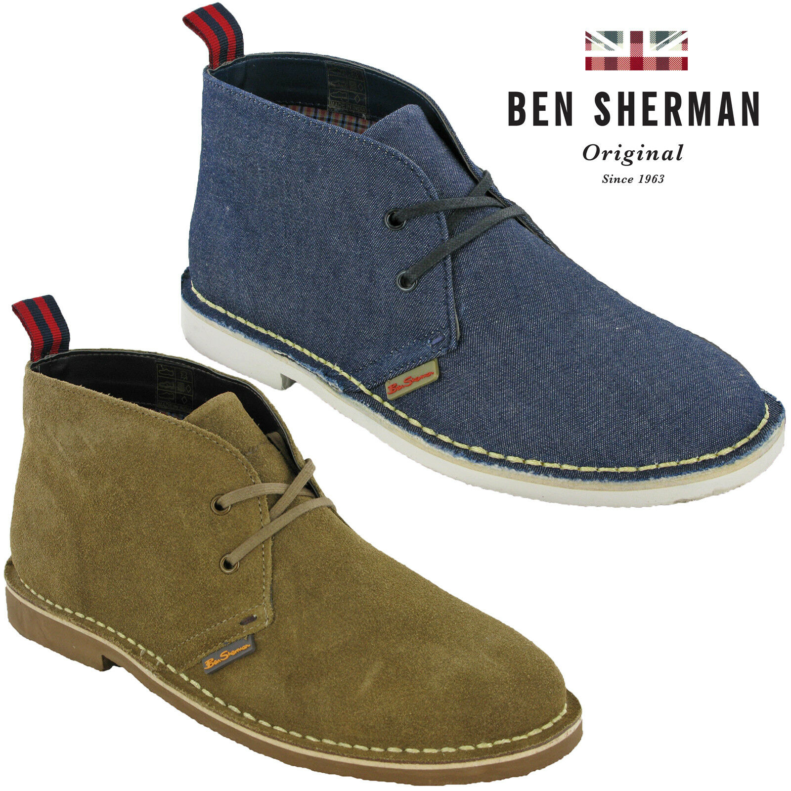 Ben SherHombre Desert Ankle botas Suede Leather Lace Ankle Desert Fashion Hombre Casual zapatos 04244e
