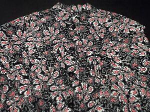 Charter-Club-Womens-Blazer-Plus-Size-Sz-2X-Jacket-Floral-Print-Button-Up-Pockets