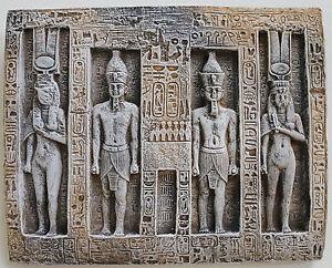 Fragment Ramses and Nefertari Abu Simbel Wall Plaque Ancient Egyptian