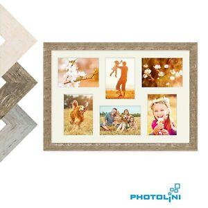 collage bilderrahmen strandhaus holz rustikal eiche weiss grau passepartout foto ebay. Black Bedroom Furniture Sets. Home Design Ideas