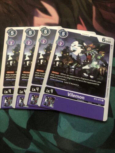 Digimon 2020 TCG 4x Vilemon Playset English BT2-072 Common FREE SHIPPING