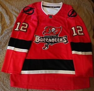 NFL NHL Replica Buccaneers Hockey Jersey. Customizable.Any Size ...