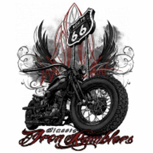 Chemise de Travailleur 2 Nuances Biker Chopper HD /& Motif Modèle Classic Iron