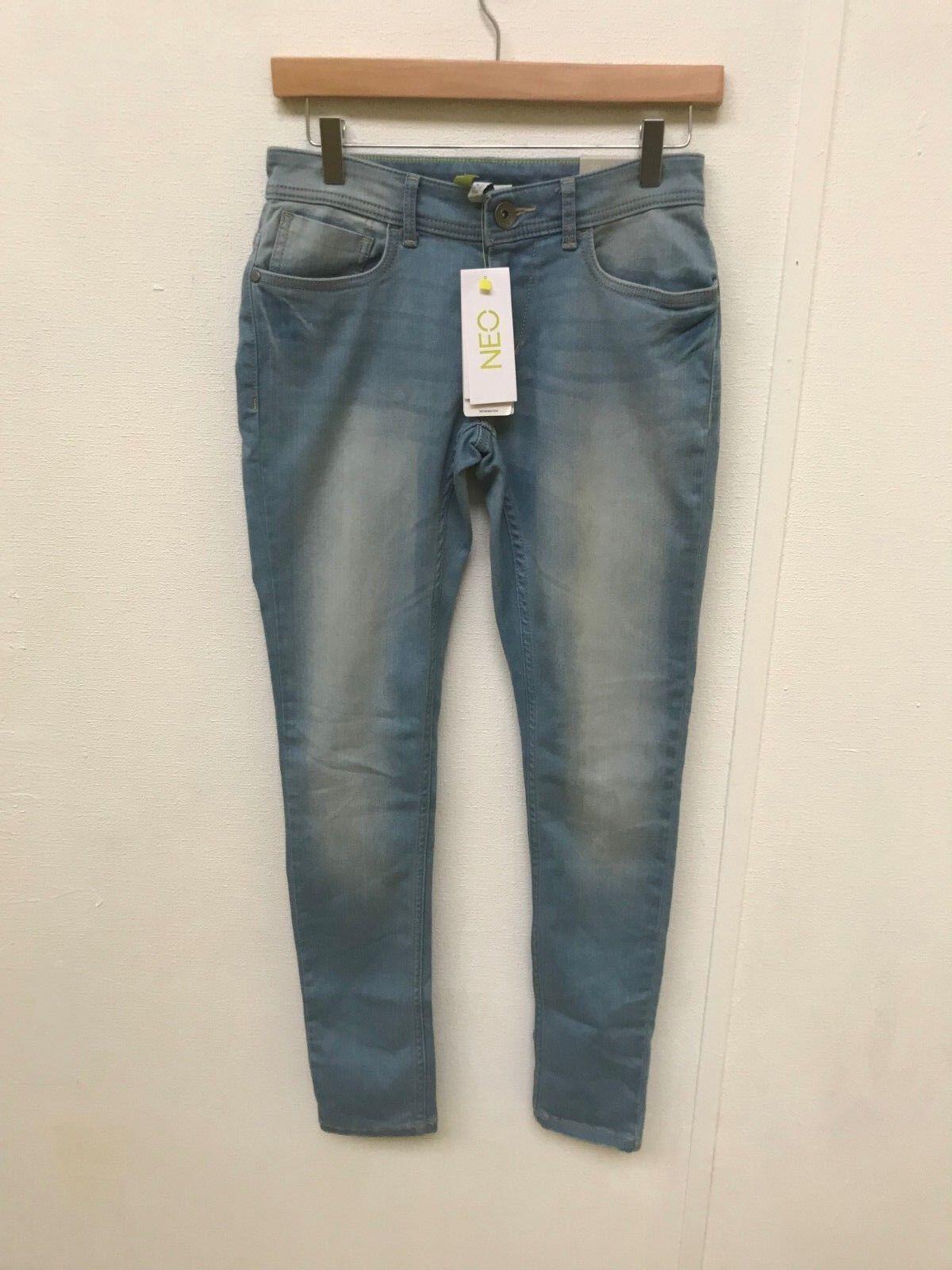 Adidas NEO Jean Super Skinny Fit pour Femmes - W30 L34 - Denim Léger - Nouveau