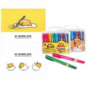 [2-in-1] Sanrio Gudetama Sketchbook & 12-Color Crayon Set