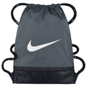 998ebfa33320 Image is loading Nike-BRASILIA-Training-Gymsack-Drawstring-Backpack -Flint-Grey-