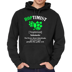 HOPTIMIST-Bier-JGA-Spass-Comedy-Sprueche-Lustig-Fun-Sweater-Kapuzenpullover-Hoodie