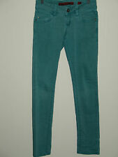Womens QS  by S.Oliver 29X32 Teal Blue Catie Slim Low Tube Jeans Stretch 21-4572