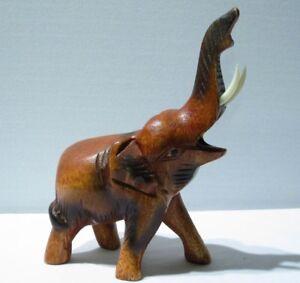 Eléphant Sculpté En Bois De Suar 15x11 59vhx57x-08002926-184302148