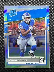 D'ANDRE SWIFT 2020 DONRUSS OPTIC RATED ROOKIE SILVER HOLO PRIZM RC #159 LIONS