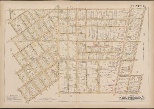 #16 /& #38 MAIN ST P.S 1891 G.M BUFFALO NEW YORK 12TH ST ATLAS MAP HOPKINS