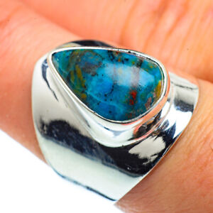 Chrysocolla-925-Sterling-Silver-Ring-Size-8-Ana-Co-Jewelry-R40627F