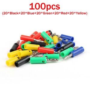 100-Pcs-4mm-Lanterns-Banana-Plug-For-Power-Amplifiers-Binding-Post
