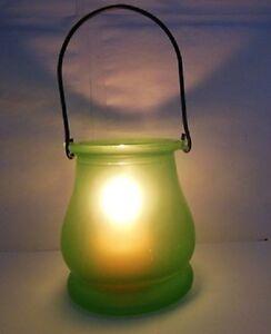 10Pcs-Green-Frosted-Hanging-Glass-Tea-Light-Holder-Wedding-Favor