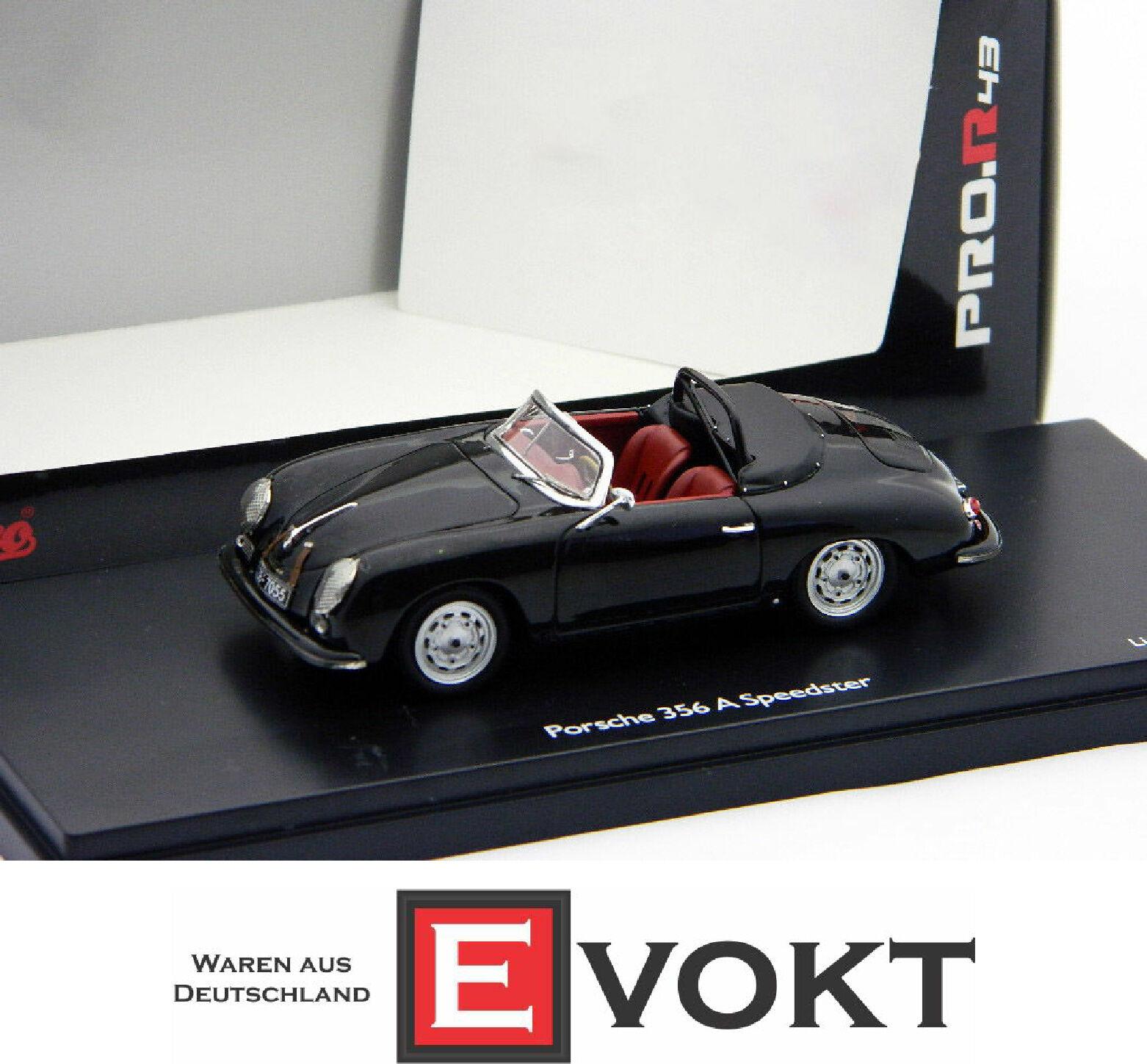 Schuco Porsche 356 A SPEEDSTER, Negro
