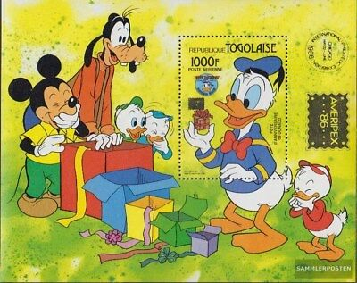 Postfrisch 1986 Donald Duck SorgfäLtig AusgewäHlte Materialien kompl.ausg. Togo Block289