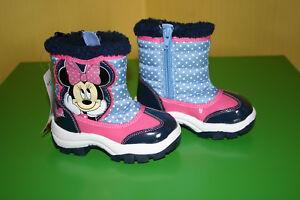 Disney-Minnie-Mouse-NEU-Maedchen-Winterstiefel-Boots-Stiefel-Gr-30