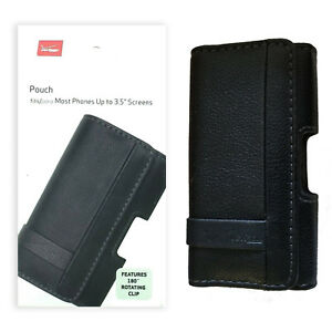 Verizon-Leather-Pouch-with-Rotating-Belt-Clip-For-Most-Phones-Up-to-3-5-034-Screen