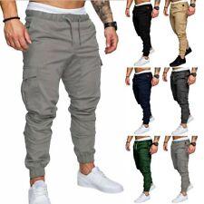 Masculino Slim Fit Urban Straight Leg Calça casual lápis calças jogger de carga