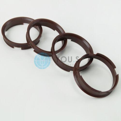 4 x anillas de centrado anillo distanciador llantas de aluminio z12d 72,6-66,6 mm Brock keskin-nuevo