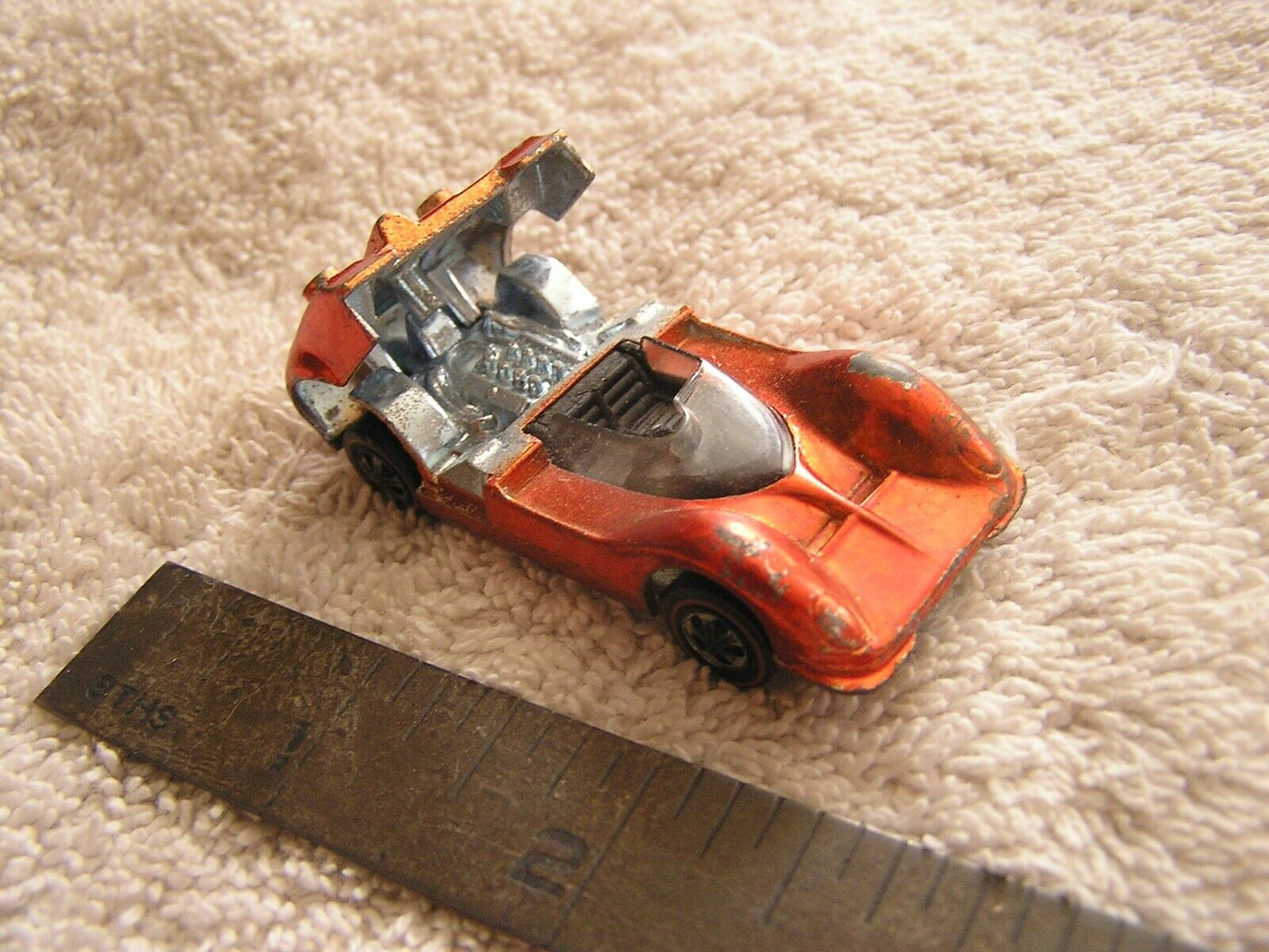 1968 Hot Wheels Chaparral   26 orange  With Red Line Tires