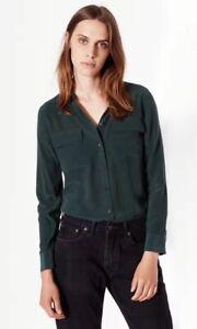 Equipment-Slim-Signature-Silk-Shirt-Dark-Green