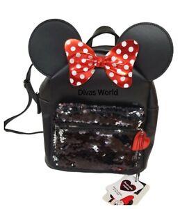 PRIMARK BLACK DISNEY MINNIE MOUSE GLITTER SHOULDER BAG Hand Bag purse  BRAND NEW