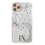 miniatura 15 - Telefono Personalizzato Custodia Per IPHONE 12/PRO/11/MAX iniziale ROSA MARMO Cover Rigida