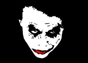 batman villain joker the dark knight 3 25 x 3 75 white red