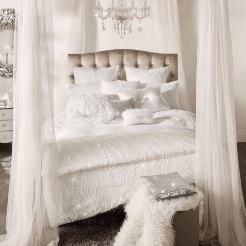 NEW Kylie Minogue Designer Bedding RENATA Oyster Sequins Embroidered Elegant