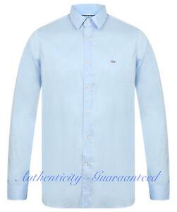 LACOSTE-Men-039-s-Long-Sleeve-Slim-Fit-Stretch-Shirt-Blue-S-XXL-RRP-100-SALE